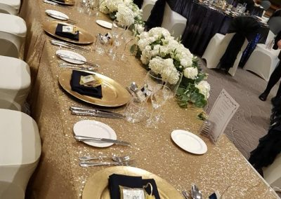 Gold Glitter Table Cloths
