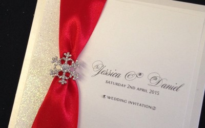 Red Glitter Wedding Invitation