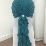 Teal Ruffled Hood