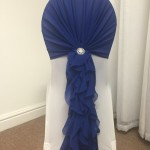 Royal Blue Ruffle Hood