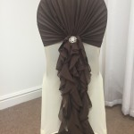 Chocolate Brown Ruffle
