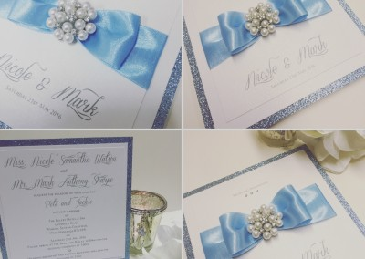Baby Blue Wedding Invitation