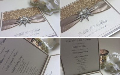 Luxury Glitter Wedding Invitations